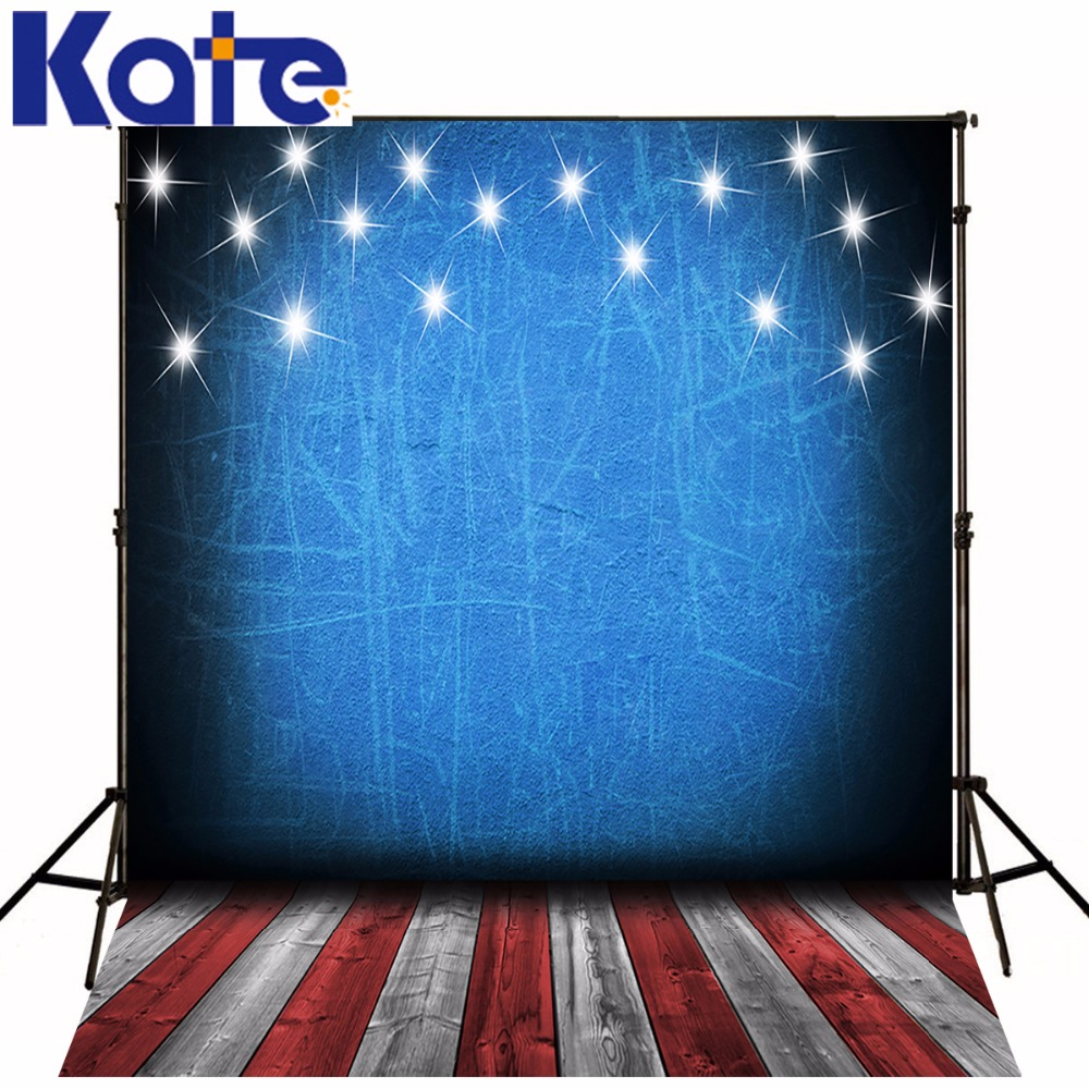 5x7FT Kate Children Photography Studio Backgrounds American Flag For Photo Wood Floor Backdrops