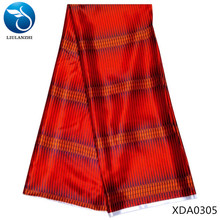 LIULANZHI red african silk wax fabric 2019 chinese printed for dress Woven XDA03
