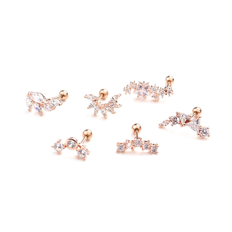 HTB10vfVc2WG3KVjSZPcq6zkbXXaD - Feelgood Rose Gold Color Curved Cz Cartilage Stud Helix Rook Conch Screw Back Earring 20g Stainless Steel Ear Piercing Jewelry