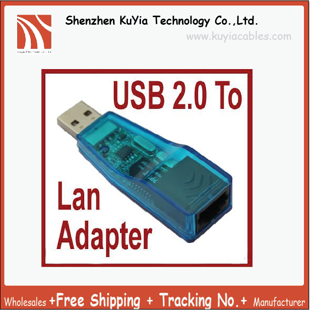 KUYiA Free Shipping+USB Ethernet LAN Card 10/100 Mbps Fast Ethernet Adapter, Network Adapter, USB Lan Card