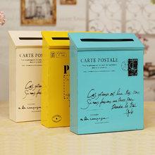 Винтажный стиль оловянный почтовый ящик Американский настенный открытый металлический почтовый ящик с буквами украшение дома сада