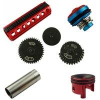 SHS mushroom mute original torque gear/metal piston/piston head/cylinder/cylinder head set parts for gearbox V.2/3 AEG airsoft