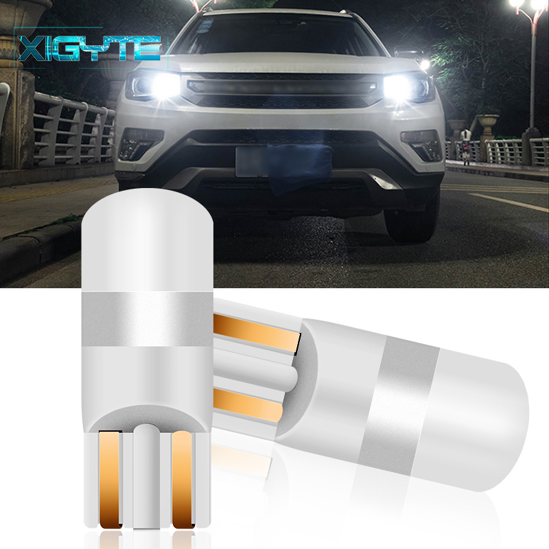 2PCS 2019 3030 SMD 350LM T10 <font><b>W5W</b></font> <font><b>LED</b></font> Car Clearance Lights Reading Lamp Auto Vehicle Dome Door Bulb Accessories Pure White 6000K image