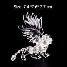 3D DIY Acrylic Puzzles Manually Assembled Merlion Animal Adults Big Boys Birthday Gifts Educational Collection Toys Jigsaw Model(China)