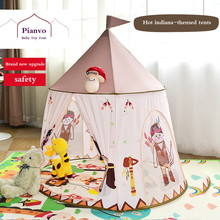 NEW Indiana Castle Indoor Game House Princess Toy Childrens Baby Tent Villa  Foldable Play Tents Toys for Children