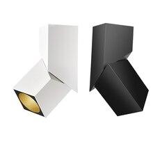 Mode Kunst Cube Decke Licht Oberfläche Montiert RA93 7 W 12 W 15 W Warm Weiß LED Downlight Einstellbare Bestrahlung winkel