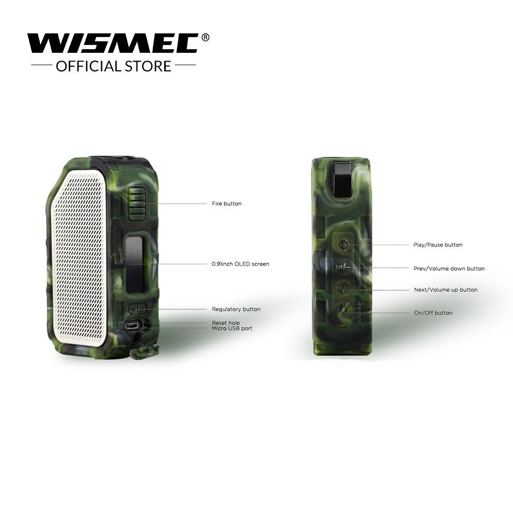 Boîte de vape d'origine Wismec Active Mod boîte 80 W avec haut-parleur Bluetooth étanche/antichoc boîte de Mod de cigarette électronique Vape - 4