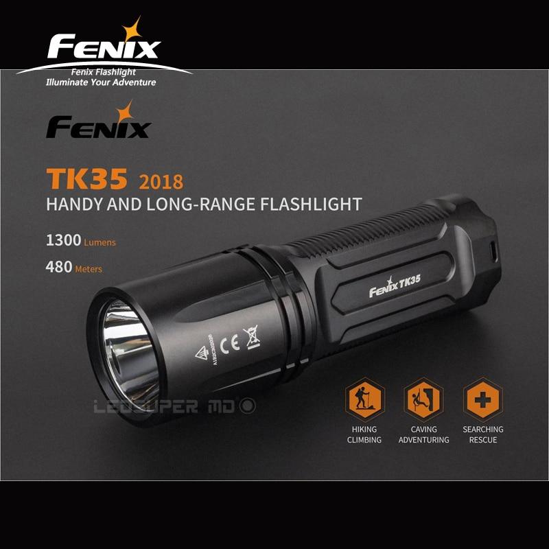 Far reaching Beam Distance Fenix TK35 2018 CREE XHP35 HI Neutral White LED 1300 Lumens Handy & Long range Flashlight
