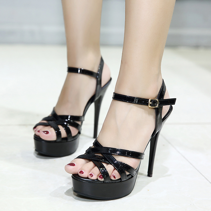 Summer new Korean fashion <font><b>12</b></font> <font><b>cm</b></font> high heel <font><b>sandals</b></font> open-toe <font><b>sandals</b></font>. image