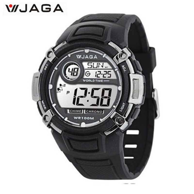 JAGA Electronic Watch Men Multifunction Sports Watch Waterproof Luminous Male Watch Digital Sport Watches For Men M862 sports outdoor multifunction electronic watch for men