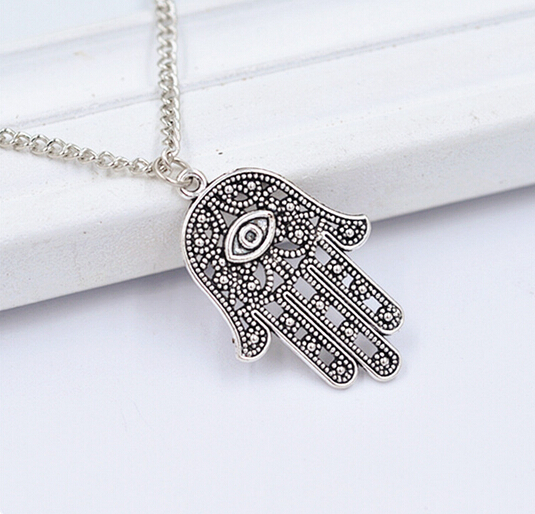 2pcs Fatima Hamsa Hand Turkish Blue Eye Necklace Charm Pendant Nm546 Jewelry & Accessories Hot