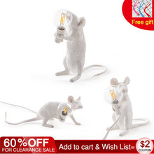 3 Styles Resin Mouse Lamp American Country Individual Creative Bedroom Bedside Study room Desk Decoration Small Mouse Table Lamp(China)