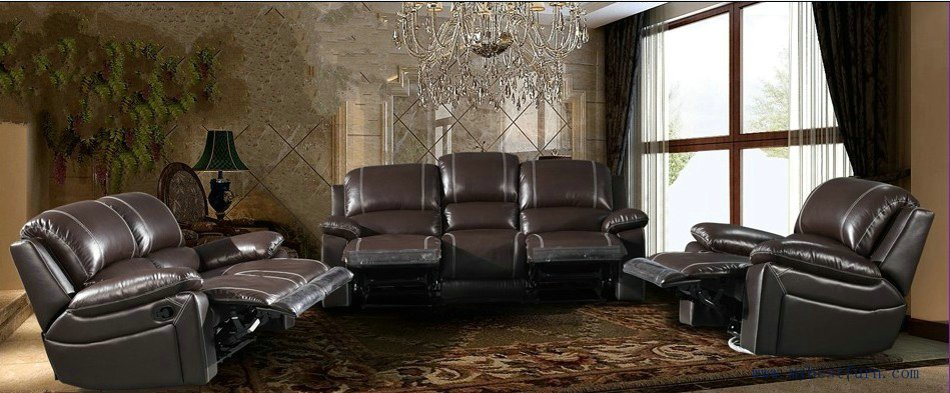 Recliner Sofa Set Modern Design 123 Sectional Sofas Reclining Chair With Shake Retation Function Genuine Leather In Living Room From