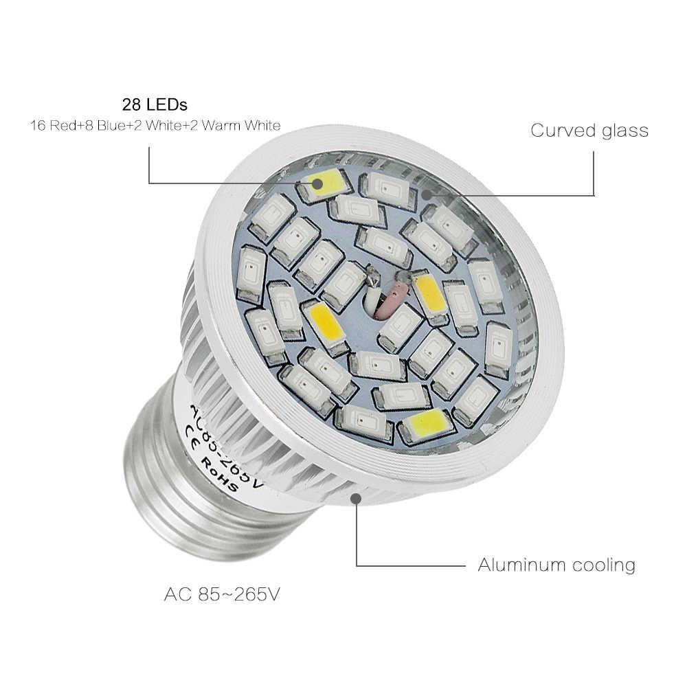 Полный спектр 5730 E27 28 Вт 28 SMD светодио дный светать 220V 110V растениеводства лампы реветь для внутреннего цветок гидропоника Box палатка