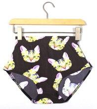 X-082 Summer bottom fashion sexy colorful women shorts High Waist cartoon print short Pants skinny