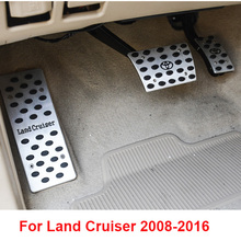 2008-2016 Aluminum Accelerator Rest Brake Pedal Covers For Toyota Land Cruiser 200 FJ200 Accessories