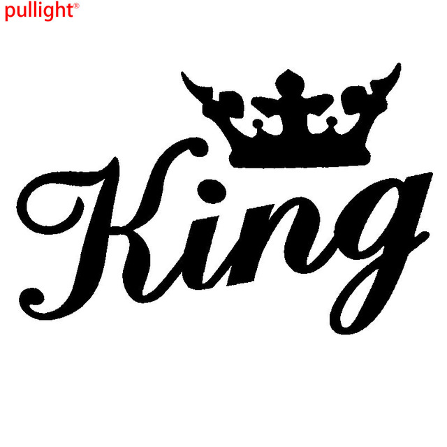 King crown gold funny car window bumper or laptop dub drift vinyl decal sticker