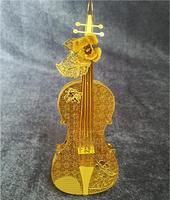 D stereo metal jigsaw puzzle DIY crafts roses violin model children's toys