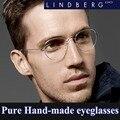 Las Nuevas gafas Retro marco de los vidrios de forma ovalada Creativa Sin Tornillos gafas de montura de gafas de Negocios Ultra ligero