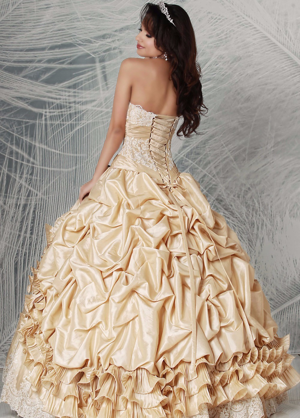 Vintage-Champagne-Ball-Gown-Quinceaneara-Dresses-2016-Detachable-Long-Sleeves-Taffeta-Girls-Sweet-15-16-Party (1)