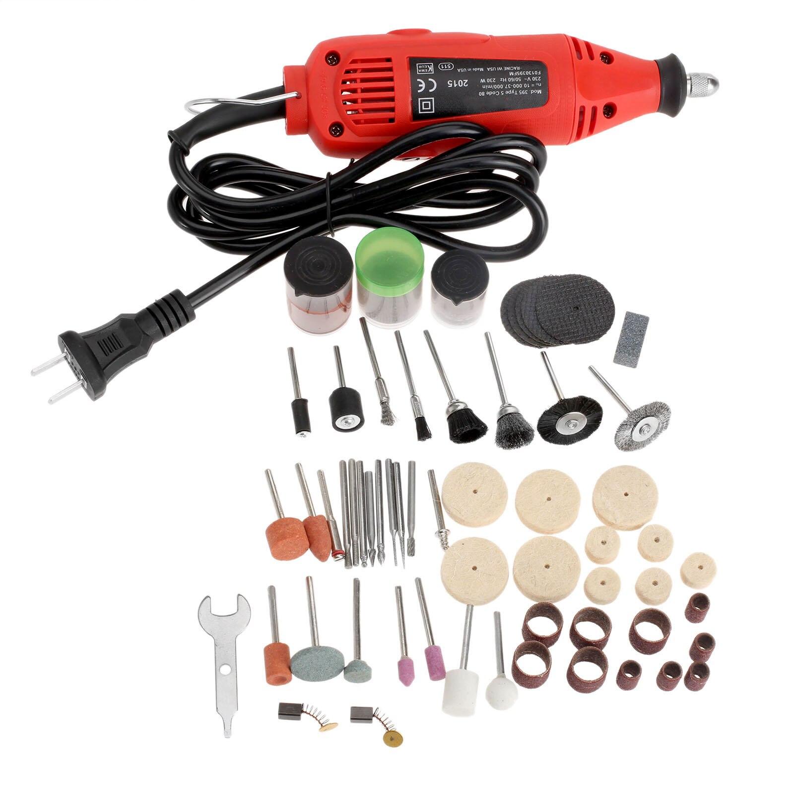 100Pcs Grinding Polishing Sanding Tools Rotary Tools +230W Mini Grinding Machine Mini Drill Grinder Electric Tool Variable Speed  цены