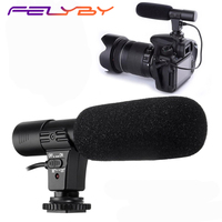 FELYBY MIC 01 Professional DSLR Condenser Microphone Interview Video Recording Mic Camera Video Recording Filmmaking Microphone