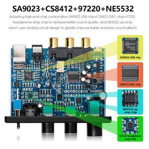 Image 5 - Nobsound HiFi USB DAC Mini Digital to Analog Converter Coax/Opt Headphone Amp With Treble Bass Control