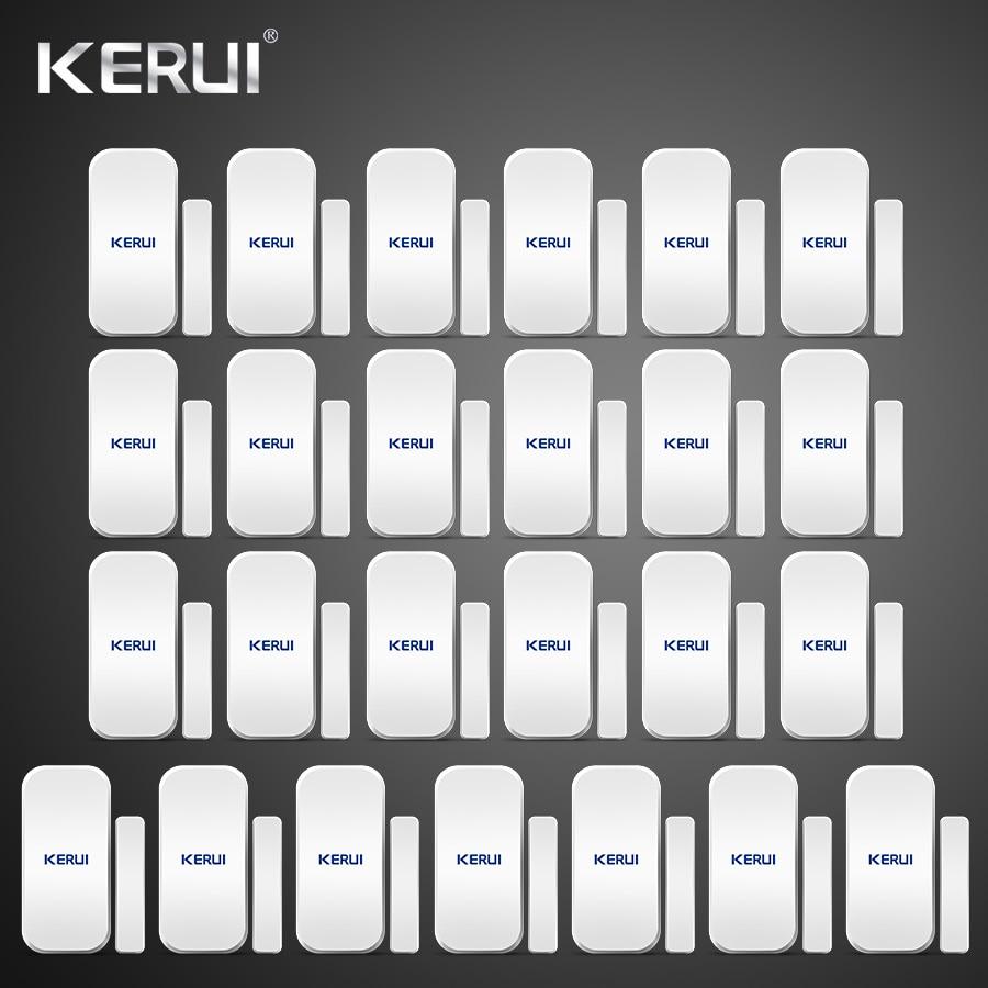 25pcs Kerui Home Alarm Wireless Door Window Magnetic Detector Gap Sensor For GSM Wifi Home Security