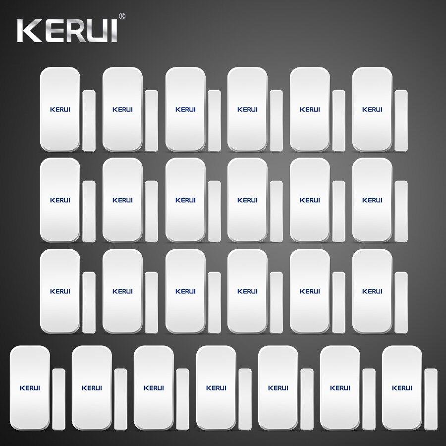 25 pièces Kerui alarme à la maison sans fil porte fenêtre détecteur magnétique capteur d'espace pour GSM Wifi système d'alarme de sécurité à domicile clavier tactile