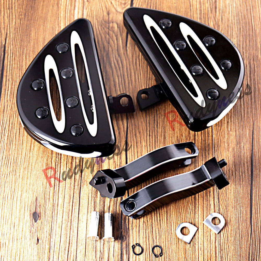 Deep Cut Floorboards&Passenger Mounting For Harley Touring Street Glide 1993-2016 2017 6 pcs cnc motorcycle instrument board deep cut gauge speedometer bezel kit case for harley touring street glide
