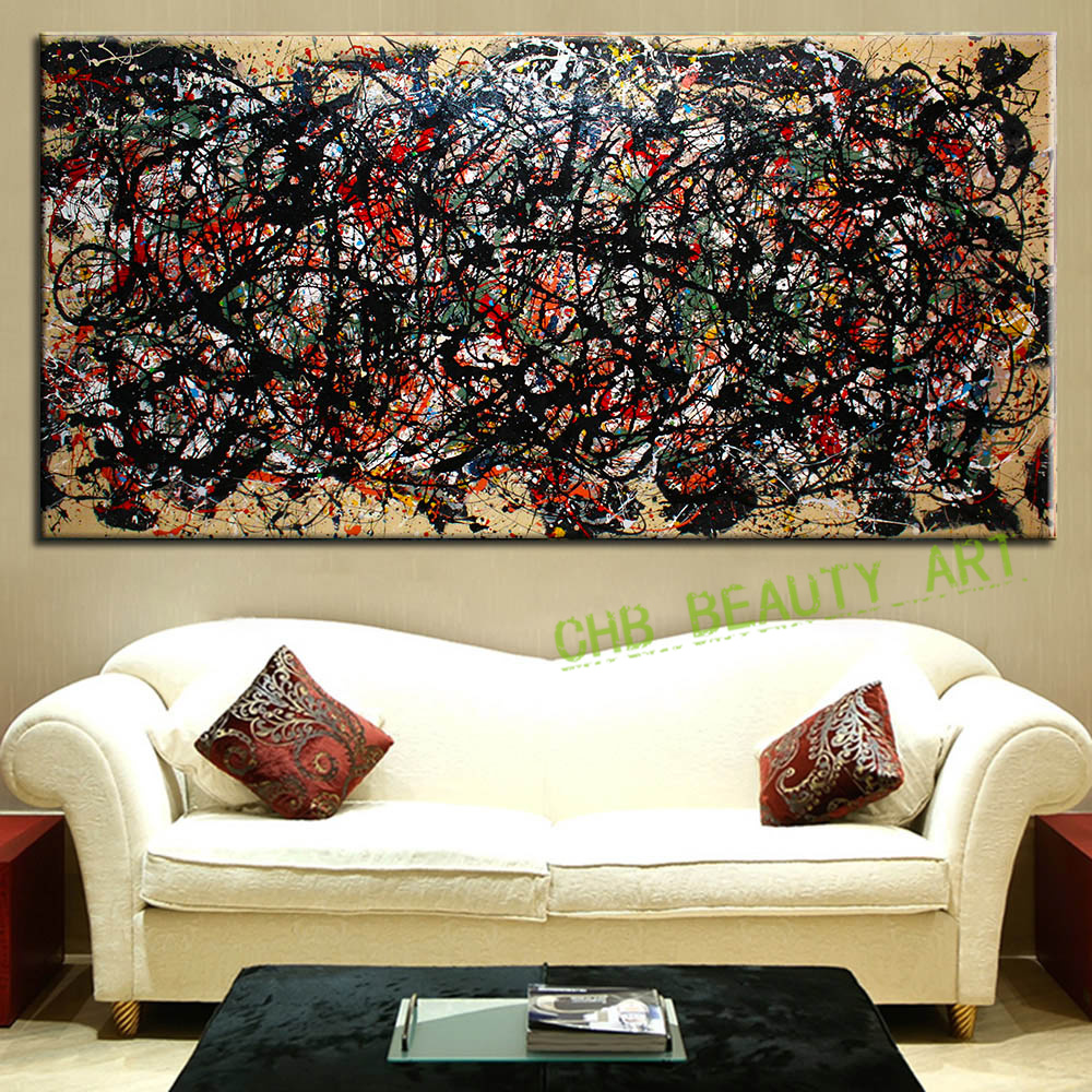 Canvas painting ideas for living room - The Most Famous Large Canvas Painting Abstract Art Wall Pictures For Living Room Ideas Print On