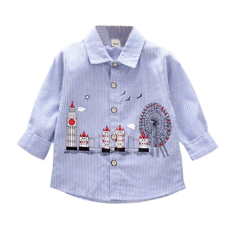 Pflichtbewusst Heißer Kinders Britischen Shirt Jungen Langarm Shirts 2018 Neue Herbst Kinder Casual Tops Kinder Kleidung 1-5y N1 Jungen Kleidung