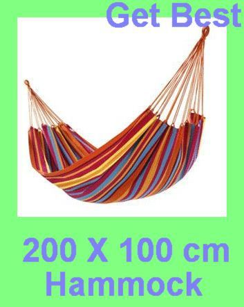 200X100cm Canvas Nylon  Single hammock tourism camping hunting Leisure Fabric Stripes outdoor dropshipping