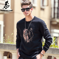 Pioneer Camp thick fleece hoodies men Autumn Winter brand-clothing quality warm male tracksuits Casual tiger Sweatshirt 622181 1