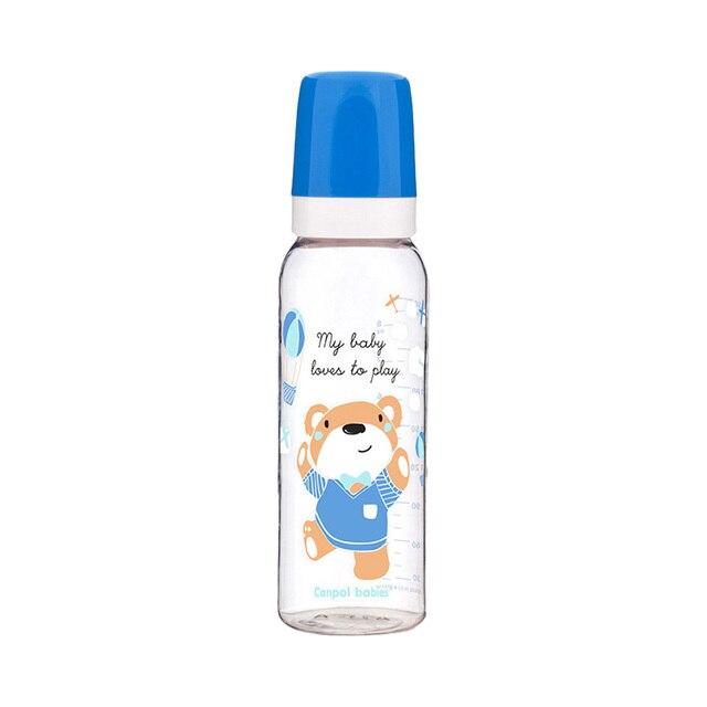 Бутылочка тритановая (BPA 0%) с сил. соской, 250 мл. 12+ Sweet fun