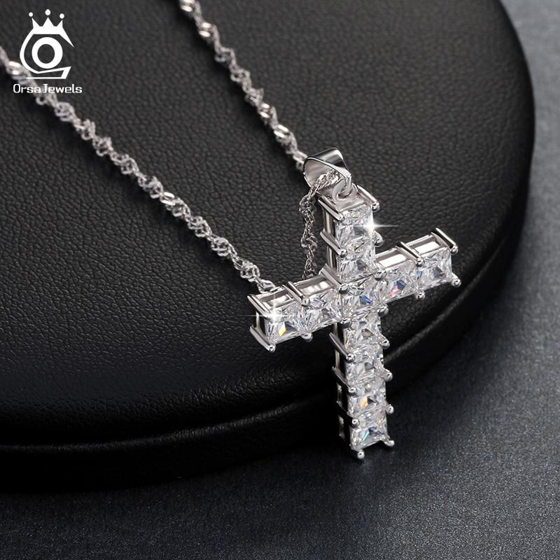 Luksuzni križ privjesak ogrlica od 11 komada princeza cut kubni - Modni nakit - Foto 4