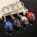 3D Car Motorcycle Bicycle Helmet Auto Key Chain Ring Keychain Car Purse Bag Keyring Silver Plated Cool