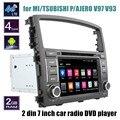 Para mi/tsubishi p/ajero v93 v97 quad core jogador rádio do carro dvd estéreo wifi 4g gps navi controle de volante