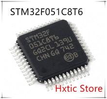 Free Shipping NEW 10PCS/LOT STM32F051C8T6 STM32F 051C8T6 STM32F051 32F051 QFP48 IC