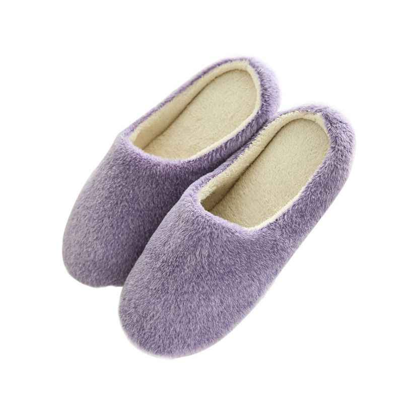 Mulheres Chinelos Em Casa Chinelos Inverno Quente Chinelos Mulheres Chinelos de Algodão Amantes Dos Carneiros Ful Interior Sapatos Casa Mulher 37-43