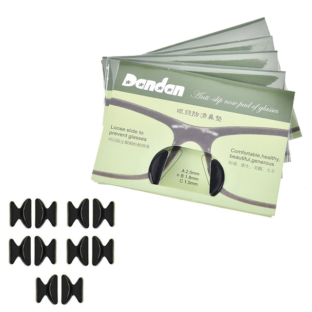 5 Pairs/bag Silicone Anti Slip Nose Pads For Eyeglasses Sunglass ...