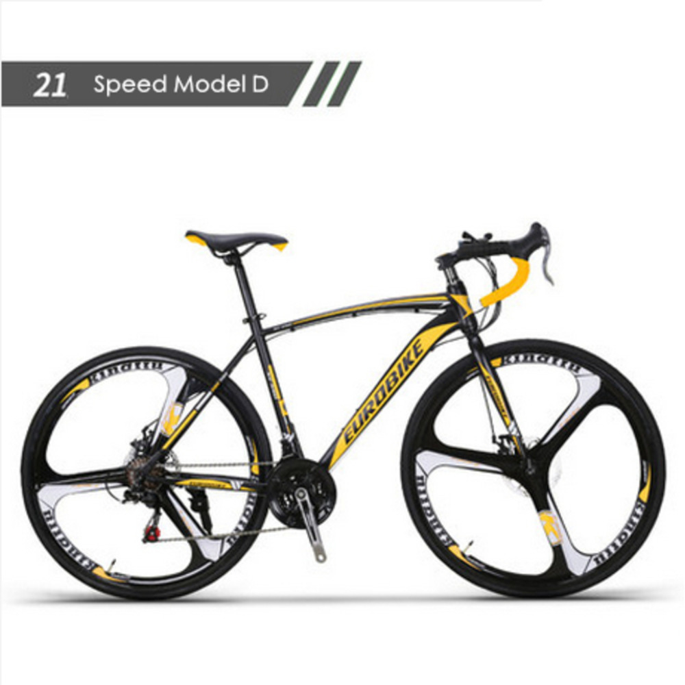 New Brand Carbon Steel Frame 700c Wheel 21/27 Speed Disc Brake Road Bike Outdoor Sport Cycling Bicicletas Racing Bicycle image
