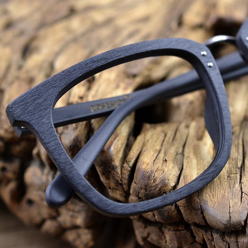 Image 4 - HDCRAFTER, деревянные оправы для очков, Мужские квадратные очки для близорукости по рецепту, 2019, мужские деревянные очки, полная оптическая оправа-in Мужские очки кадры from Аксессуары для одежды on AliExpress - 11.11_Double 11_Singles' Day