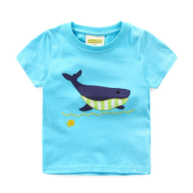Excellent T Shirt T Boy Kids dolphin Short Sleeve Tops O Neck T Shirt baby girls Tees Clothes Kids Summer Clothing outfits
