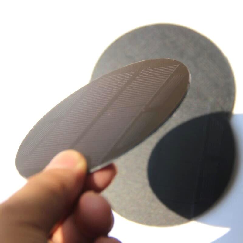 BUHESHUI 0.85W 5.5V Mono Solar Cell PET Round Solar Panel For 3.7V Battery Charger Light Diameter 91MM 10pcs FreeShip