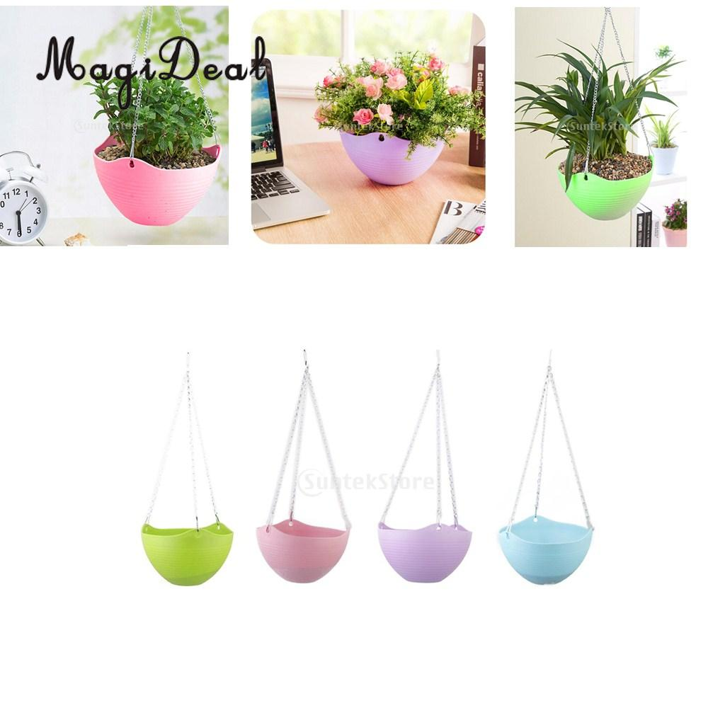 MagiDeal Simple Wall Hanging FlowerPot Plant Basket ... on Decorative Wall Sconces For Flowers Hanging Baskets Delivery id=25227