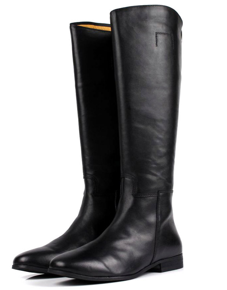 Large size EUR45 black over the knee mens boots genuine leather motorcycle boots fashion mens winter boots casual shoes