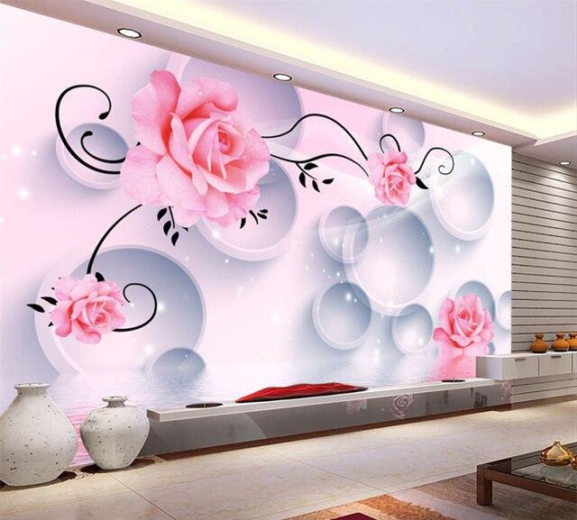 3d dimensional flowers living room bedroom wallpaper TV backdrop ...