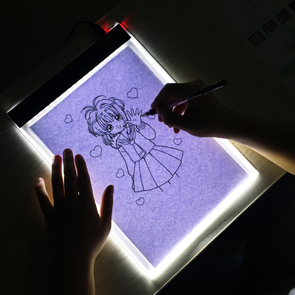 Led Portable A4 Graphic Tablet Night Light Tracing Board Copy Tablet Digital Drawing Pads Artcraft A4 Copy Diamond Painting Lamp (15)