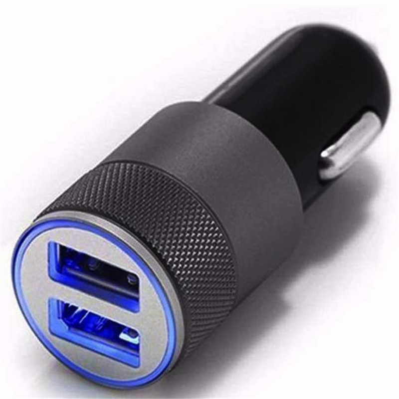 Cargador de coche 2.1A 5 V cargador de coche Dual USB cargador rápido para iPhone 12-24 V cargador de encendedor de cigarrillos para Samsung para xiaomi